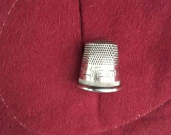 Sterling Silver Advertising Thimbles 1930s