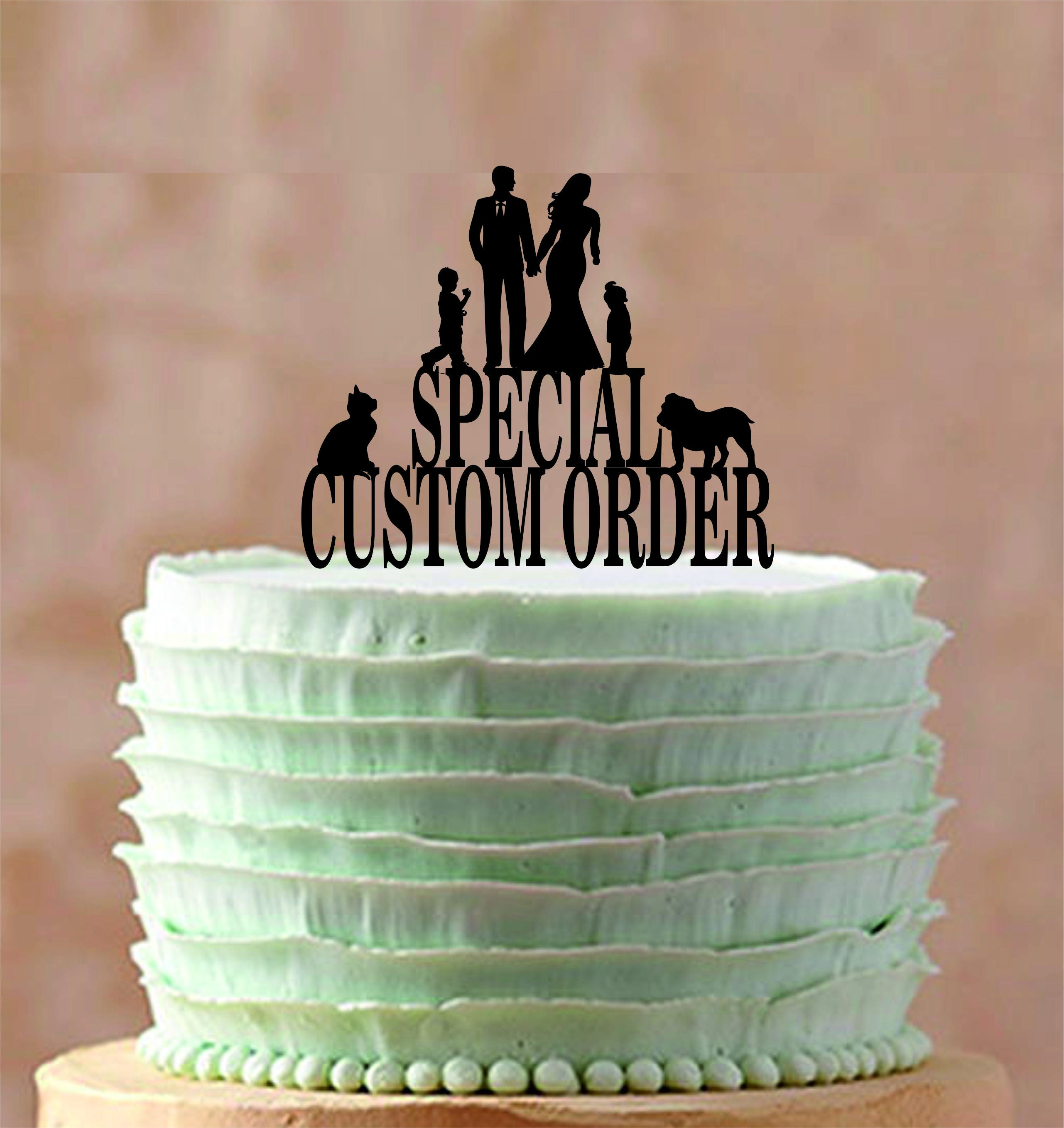 when should order wedding cake special custom order wedding cake topper 27116