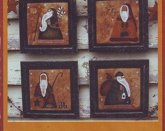 "UNCUT The Primitive Cupboard ""Santa Folk"" Applique Pattern From 2005"