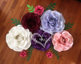 Rose templates / DIY paper roses / Price is for ONE rose style