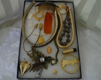 Vintage Jewelry Lot Misc. For Repairs Or Crafts #267