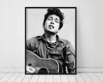Bob Dylan Poster • Bob Dylan print Bob Dylan photo Bob Dylan photogoraph Bob Dylan art Music quotes Music wall art Music Art Rock music icon