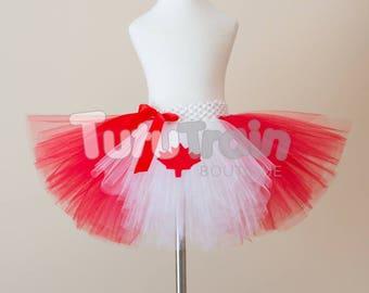 Canada Day Tutu Skirt, Canadian Flag Tutu, Red and White Tutu, Canada Skirt, Canada Tutu, Canada Day Dress, Birthday Party, Photo Prop