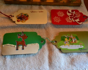Christmas or Holiday gift tags with scalloped top to enhance any gift.