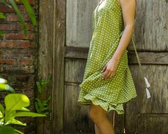 Dewi Sundress, Beach Dress, Sundress, Summer Dress, Womens Sundress, Green Sundress, 112-128