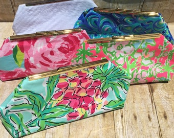 Custom Made Lilly Pulitzer Clutch Envelope Purse