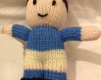 Hand Knitted Footballer