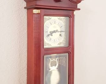 Restored Vintage / Antique D&A Brand, 31-day (Key Wind) Chiming Regulator Pendulum Wall Clock - Professionally Restored - With Warranty