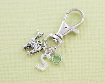 Llama purse charm, bag charm, zipper charm, personalized gift, llama gift, alpaca charm, swarovski birthstone, animal purse charm, monogram