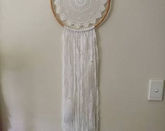 White lace boho dream catcher