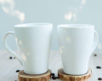 Handmade wooden mug coasters