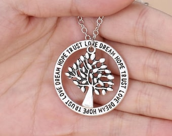 BellaMira Tree of Life Silver Plated Dual Pendant ~ Mulberry Style Tree Necklace ~ Jewellery in Gift Box