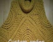 Custom Order for Maria D, Crochet poncho, crochet cowl poncho,crochet poncho for girl