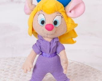 Handmade plush Mouse doll 10 in high