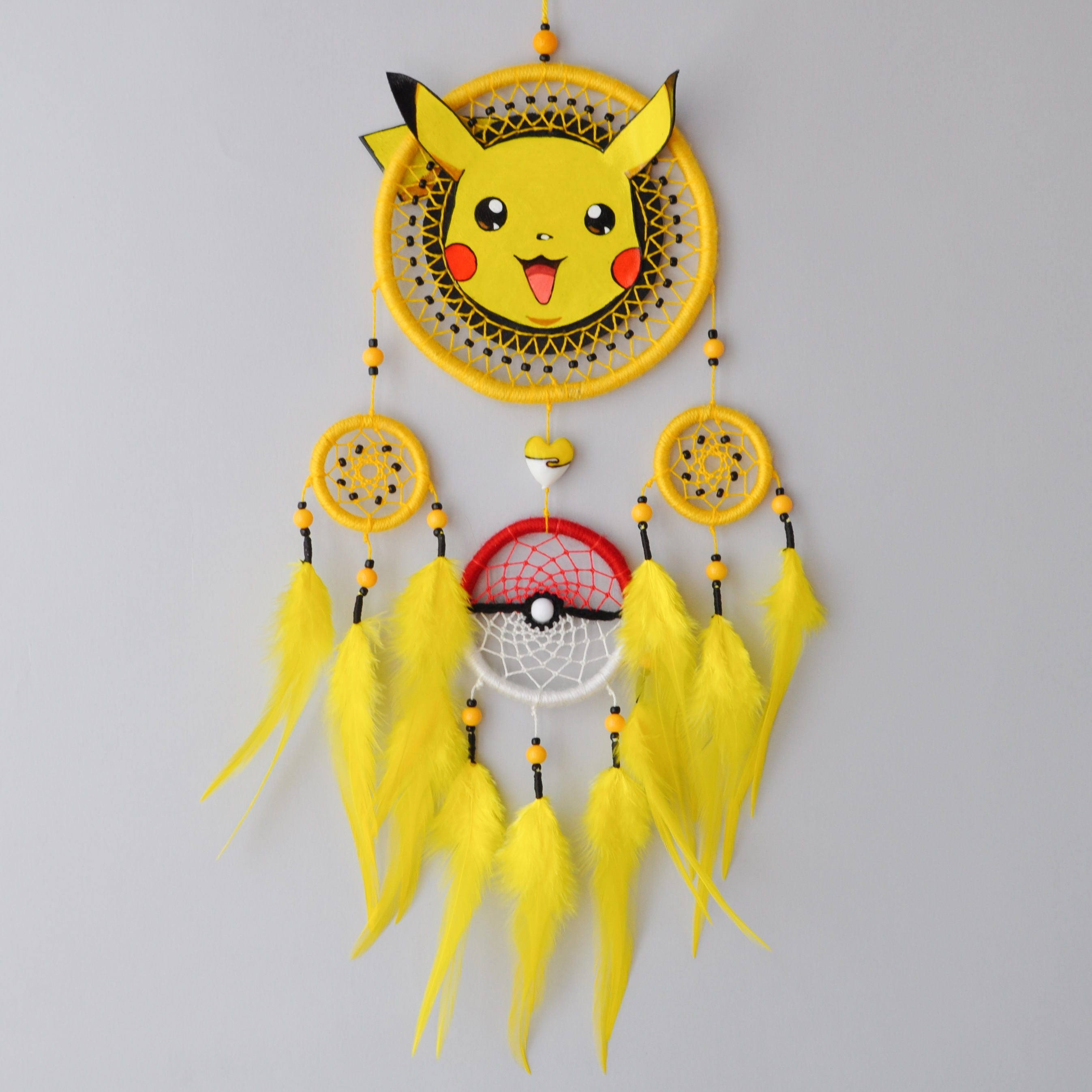 Pikachu Decor - Pokemon Fan Gift - Dream Catcher Wall Hanging ...