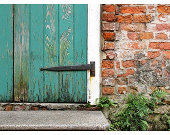 door photography, French Quarter, New Orleans, Louisiana, NOLA art print, architecture print, rustic home decor, travel photography, 11x14