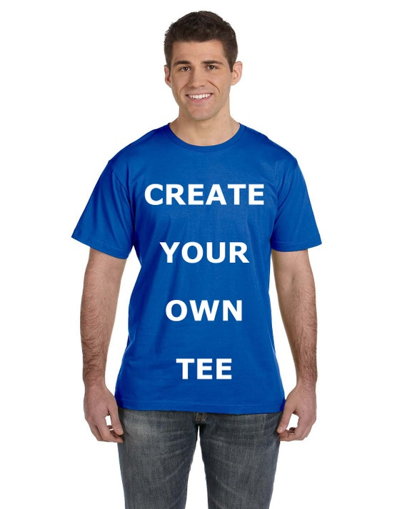 Custom Create Your Own Design Men's Jersey Crew Neck T Shirt, Custom T-shirt, Mens Custom Shirt, Personalized T-shirts, Unisex Adult Tee