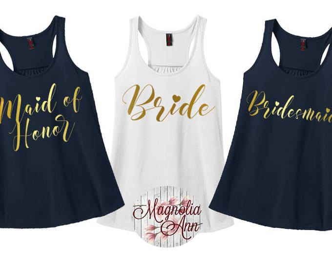 Featured listing image: Bride Heart, Bridal Party Tanks, Wedding Party, Bachelorette Tanks, Women's Racerback Tank Top in 9 Colors in Sizes Small-4X, Plus Size