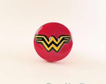 Wonder Woman Pull Knob Justice League Drawer Pull DC Comics Room Decor Superhero Knobs Pulls Superhero Cabinet Knobs Geek Decor