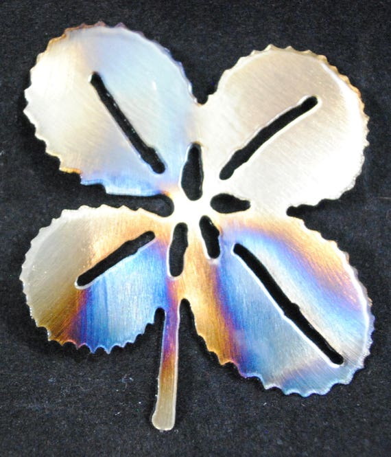 Four Leaf Clover - Christmas Decor - Metal Four Leaf Clover - Metal Ornament - Tree Decoration - Small Four Leaf Clover - Wall Decoration