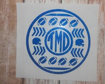Football Monogram/Monograms/Football/Pop Warn/School Mascot/Football Team /Football Decal/College Team Sticker/Football/Football Logo