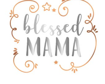 Blessed Momma Decal, Car Decal, Mom Car Decal, Mommy Decal, Car Decals for Women, Phone Decal, Laptop Decal, Cup Decal, Family Decal, Mom