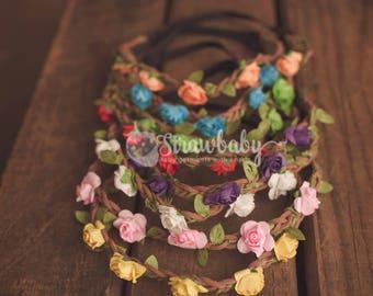 Flower Crown Headband, Flower Crown Child, Flower Crown Boho, Flower Baby Headband, Floral Headband Baby, Floral Head Piece, Floral Headband