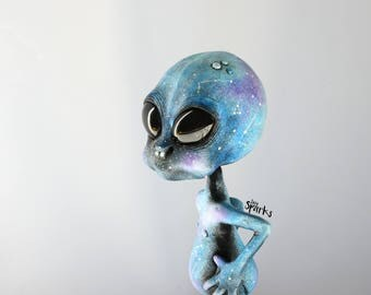 Galaxy Alien - unique and handmade