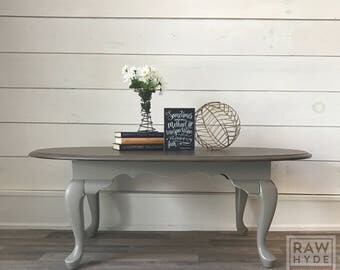 Coffee Table/Weathered Wood Finish/Gray Distressed