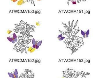 Fall-Butterfly ( 10 Machine Embroidery Designs from ATW ) XYZ17E
