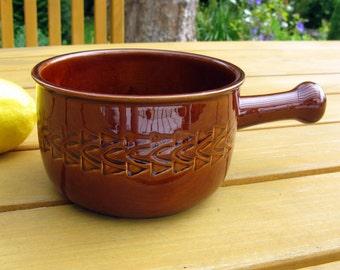 Jie Gantofta Sweden Ceramic Stoneware Crock / Scandinavian Design / Mid Century / Handled Crock Casserole / Ceramic French Onion Soup Pot