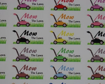 Mow the lawn Icon - Planner Sticker