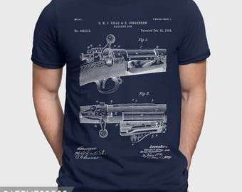 Bolt Action Rifle T-Shirt, Repeating Rifle Patent Shirt, Hunting Gift For Hunter, Marksman, Military Gift For Army Husband, Gun Lover P172