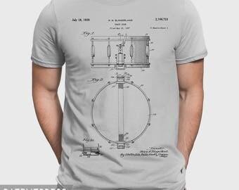 Drummer T-Shirt Gift For Drummer, Drumming Gift For Boyfriend, Drummer Husband Gift Idea For Drummer Gift For Him, Snare Drum T Shirt P110