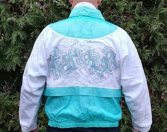 SERGIO TACCHINI Nylon Vintage 80's/ 90s Tennis Windbreaker Jacket