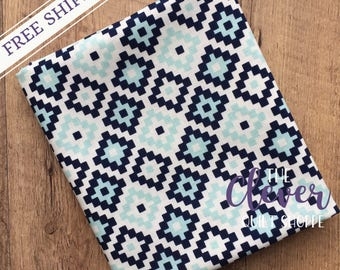 Quilting Fabric, Riley Blake, Geometric Navy of Woodland Springs by Designs by Dani