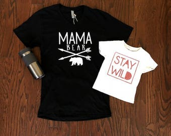 Mama Bear - Mom Life - Graphic Tees - Woman's Tees - Next Level - Vneck