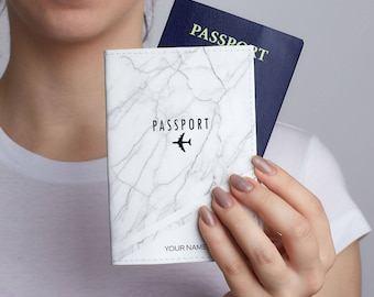 Marble Leather Passport Cover Passport Travel Leather Wallet Leather Passport Holder Gift Personalized Passport Covers Passport Case CP0128