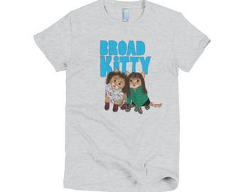 Women's size - Broad Kitty on American Apparel short sleeve T-shirt