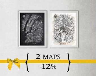 2 maps with 12% Discount {Special Discount Offer} Just select size and style!