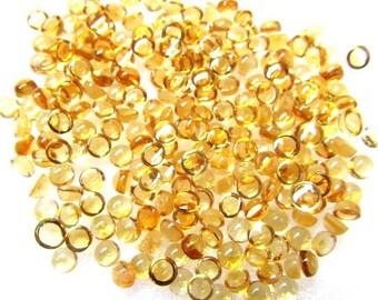 25 pcs Lot 4mm CITRINE Round Cabochon Gemstone - Citrine Cabochon Round - Natural Citrine round cabochon loose gemstone - AAA++ Quality Gems