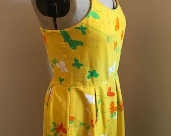Vintage 1960s Malia Yellow Sundress