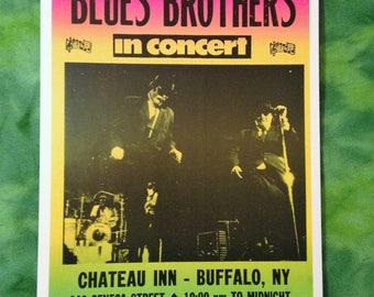 The Blues Brothers Vintage Concert Poster Reproduction // SNL // John Belushi // Dan Akroyd