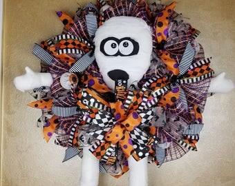 Mummy Wreath, Halloween Decor, Halloween Wreath,Front Door Decor