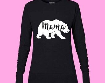 Mama Bear Sweatshirt, Mom to be, Pregnancy annoucement, Mama Bear shirt, Graphic Tee shirt, T-shirts for moms, Maternity shirt, Tumblr shirt