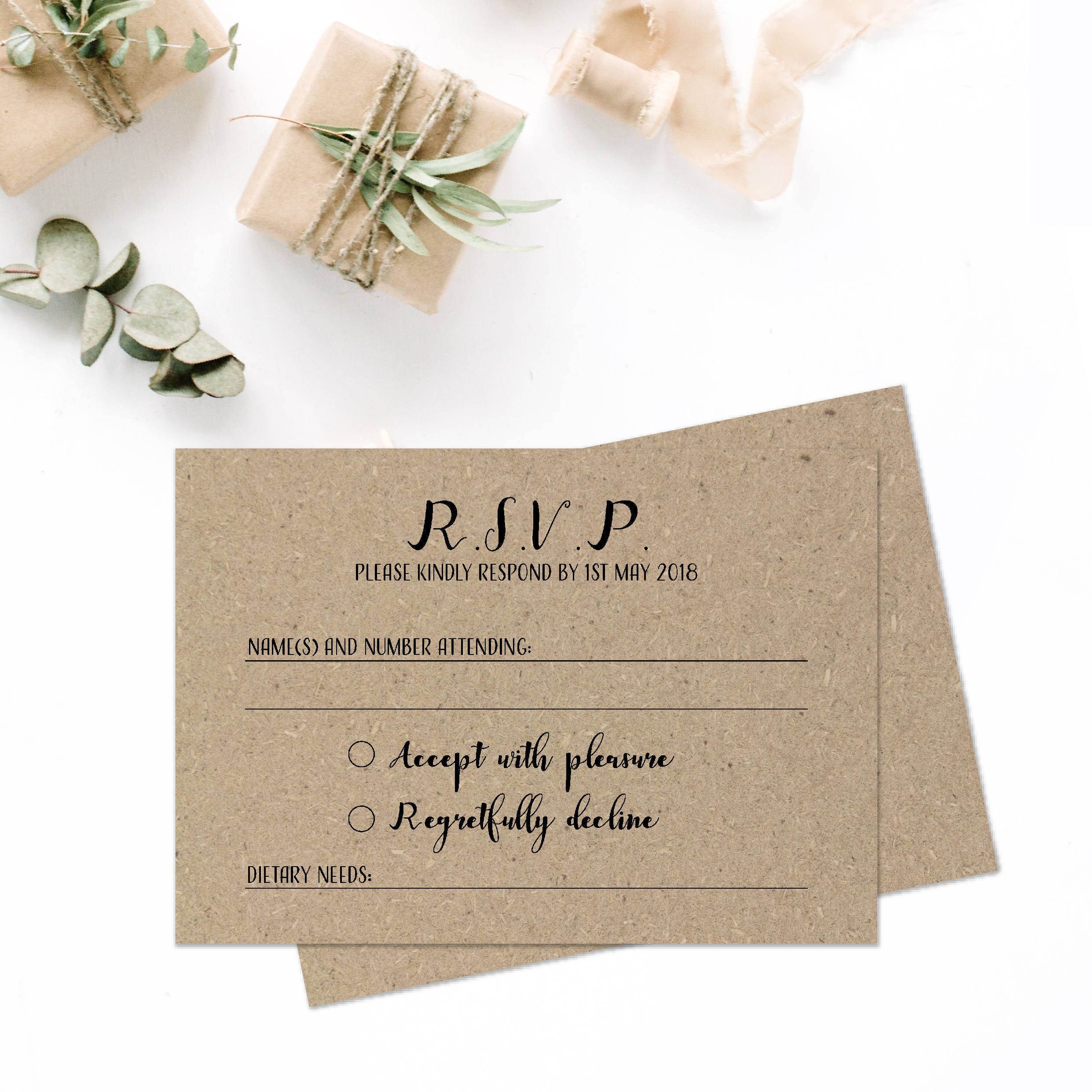 Rustic Wedding RSVP Cards Wedding Invitation And Rsvp Card