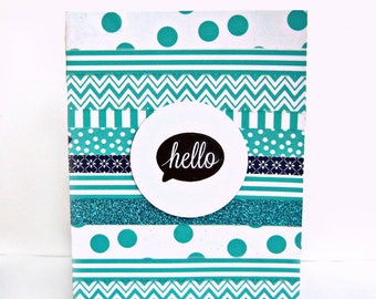 hello card, thinking of you cards, just because cards, friendship cards, card for friend, friend card, handmade cards, washi tape cards