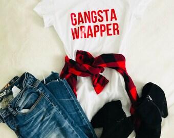 Gangsta Wrapper Tee Shirt svg, Christmas svg, SVG, DXF, EPS, Christmas svg, svg, cut file, Christmas svg, ornament svg, monogram svg