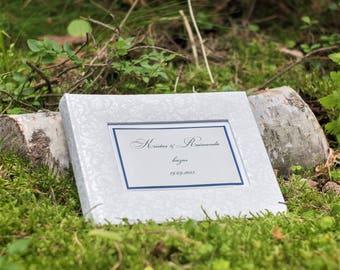 Simple Personalized Photo Album - Wedding Photo Album - White Photo Album - High Quality Picture Album - Blue Photo Album - Perfect Gift