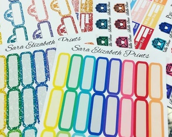 Multicolored Functional Planner Stickers